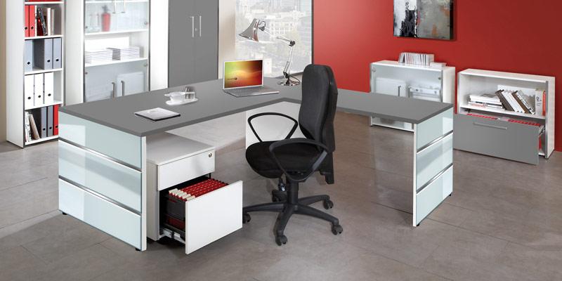 Büromöbel Programm Lugano Chef-Arbeitsplatz