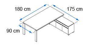 chef schreibtisch in mit untertischschrank echtholzfurnier. Black Bedroom Furniture Sets. Home Design Ideas