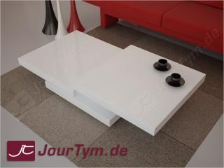 Design Couchtisch Ares Hochglanz Weiss