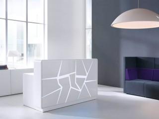 Empfangstheke ARCTIC SUMMER von mdd - Frontansicht in Weiß