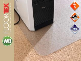 Floortex Cleartex Computex Anti-Static Schutzmatte für Teppichböden