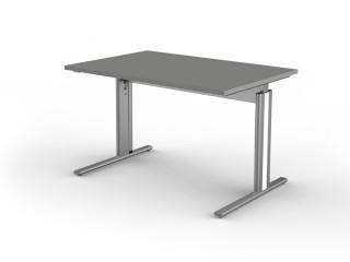 Schreibtisch C-Fuß-Gestell Form 4 3702 Grafit, Tischplatte 120 x 80 cm
