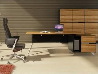 Design Chef-Schreibtisch Milano L Zebrano