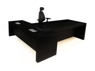 Eckschreibtisch schwarz schreibtisch lang online kaufen for Schwarzer computertisch