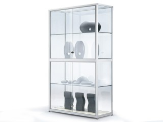 glasvitrine mit beleuchtung bei jourtym. Black Bedroom Furniture Sets. Home Design Ideas