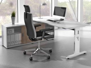 schreibtisch c fu tisch lichtgrau kerkmann 4500 1. Black Bedroom Furniture Sets. Home Design Ideas