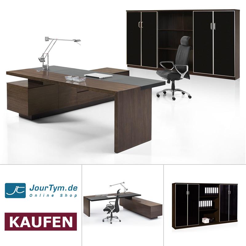 Büromöbel Set günstig | Schreibtisch Como mit Sideboard