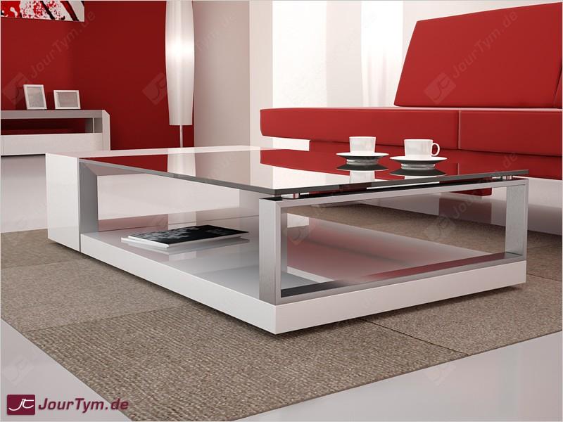 Design Couchtisch Kronos weiß