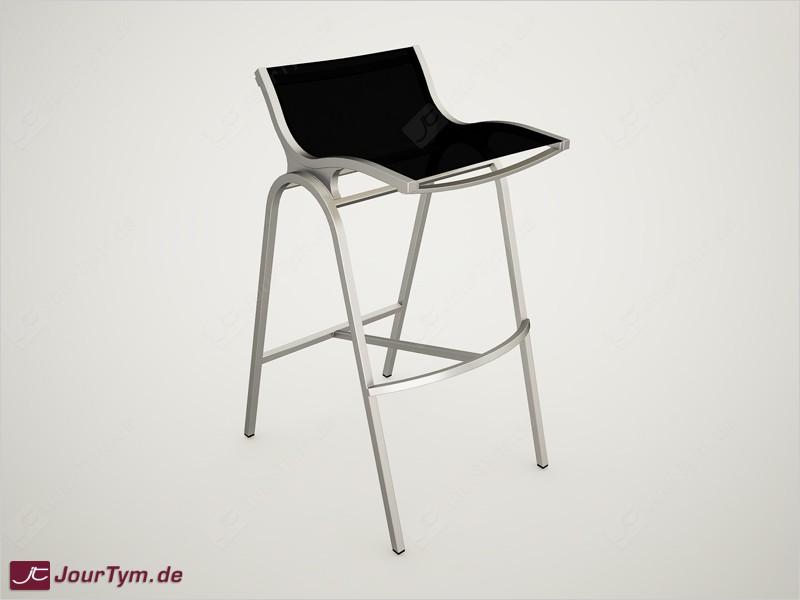 design barhocker xsteel jt01b11 edelstahl batyline schwarz. Black Bedroom Furniture Sets. Home Design Ideas