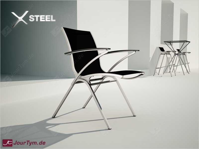Design gartenstuhl armlehnstuhl edelstahl batyline jt01b07 for Design armlehnstuhl