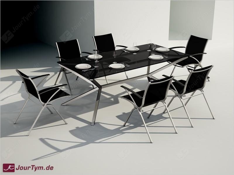 Design esszimmertisch xsteel jt47p09 edelstahl rauchglas for Esszimmertisch design