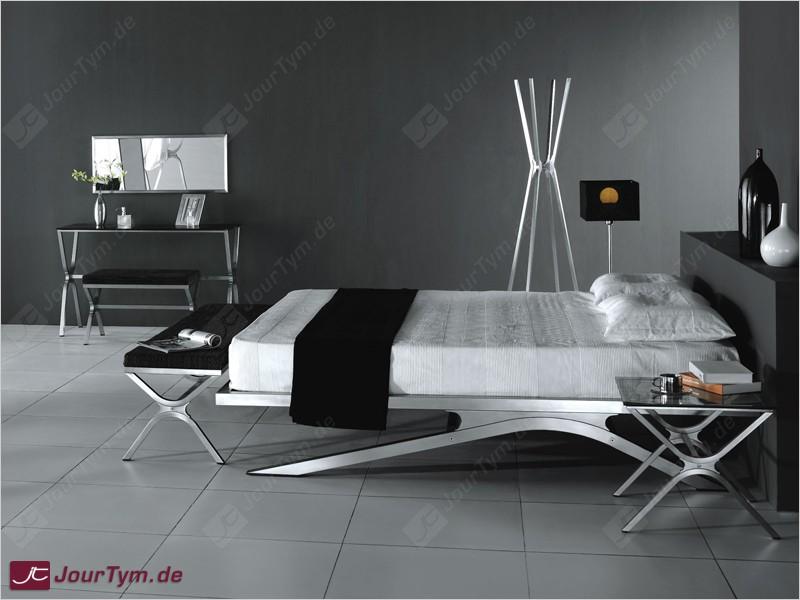 design bett xsteel jt01k01 edelstahl batyline schwarz. Black Bedroom Furniture Sets. Home Design Ideas