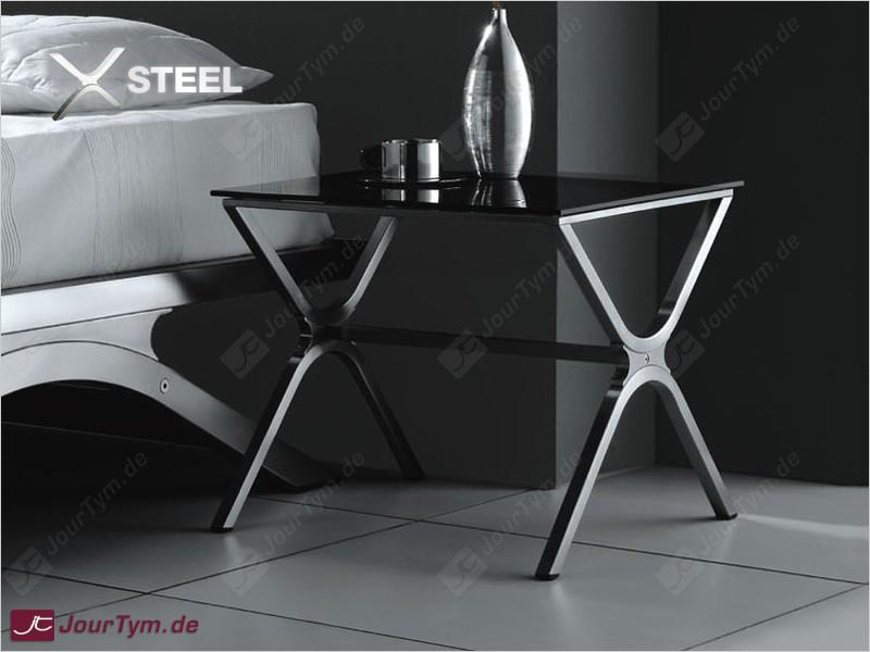design beistelltisch xsteel jt01d05 edelstahl rauchglas. Black Bedroom Furniture Sets. Home Design Ideas