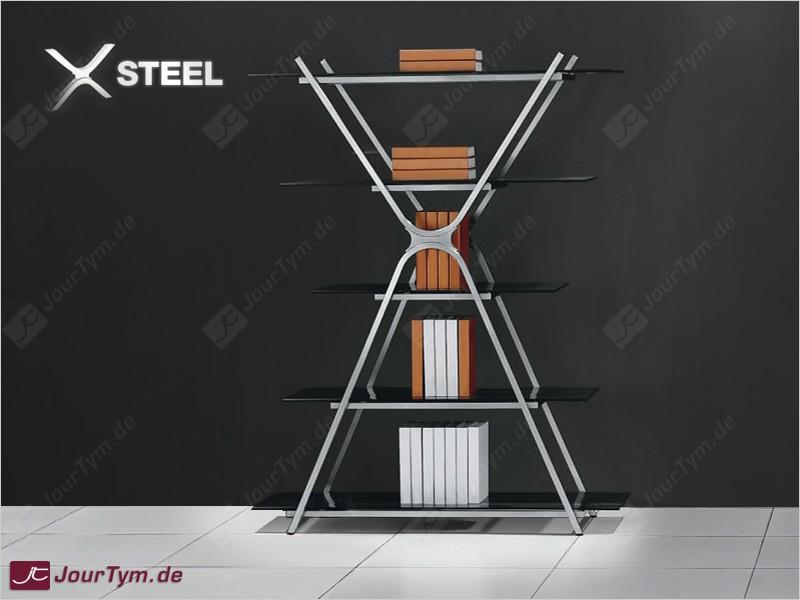 Design Regal XSTEEL JT01N08A Edelstahl Rauchglas