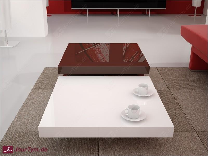 Design Couchtisch Ares Schoko braun weiß