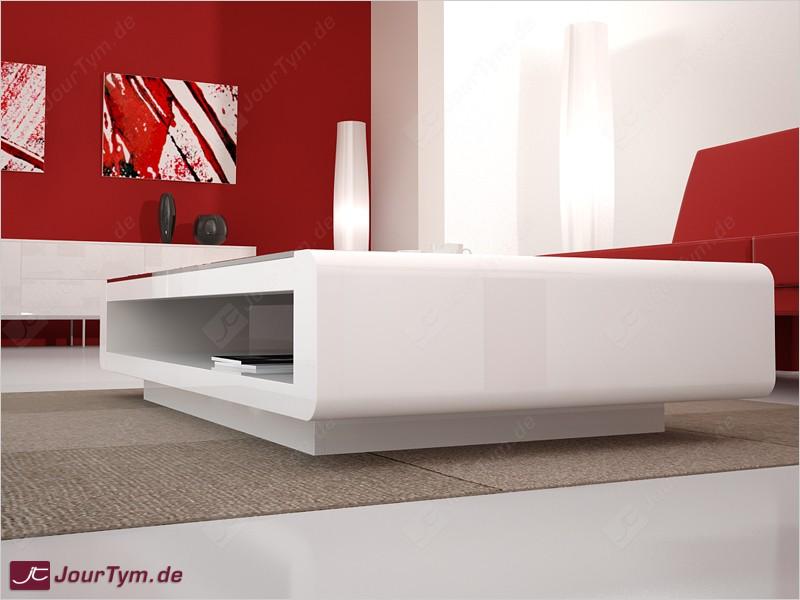 DesignerLoungetisch Urania weiß