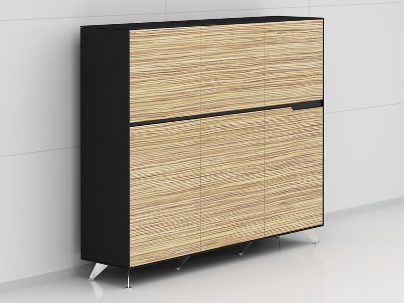Büroschrank design  Design Aktenschrank Livorno Zebrano
