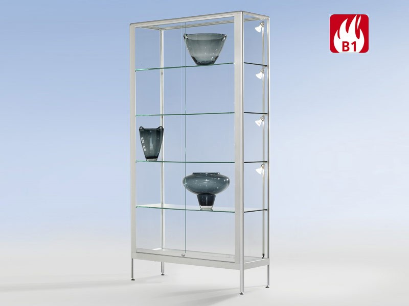 aluminium vitrine brandschutz b1 bei jourtym g nstig kaufen. Black Bedroom Furniture Sets. Home Design Ideas