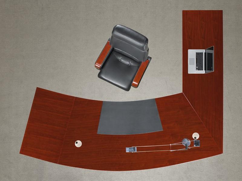 Echtholz schreibtisch eckschreibtisch walnuss g nstig for Schreibtisch von oben