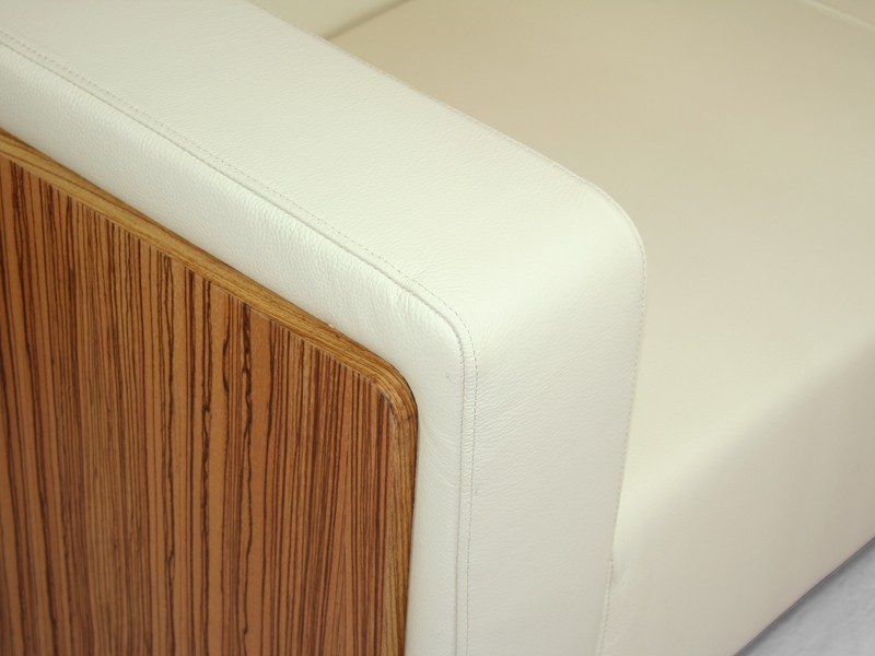 business sessel milano leder wei zebrano white edition. Black Bedroom Furniture Sets. Home Design Ideas