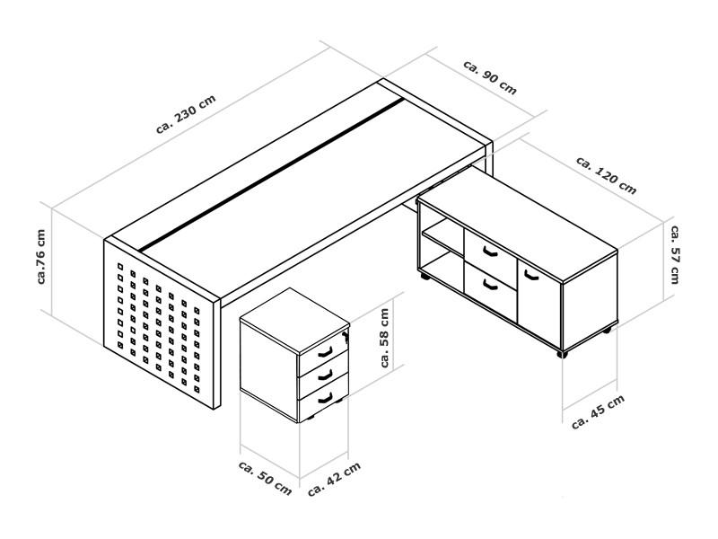 Arbeitszimmer Möbel | Schreibtisch Aktenschrank Prato