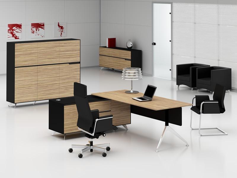 Büromöbel Livorno XL Zebrano Links Schreibtisch Mit Aktenschrank