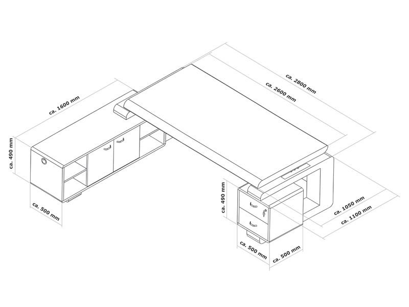 schreibtisch gro b rom bel chefb ro online kaufen. Black Bedroom Furniture Sets. Home Design Ideas