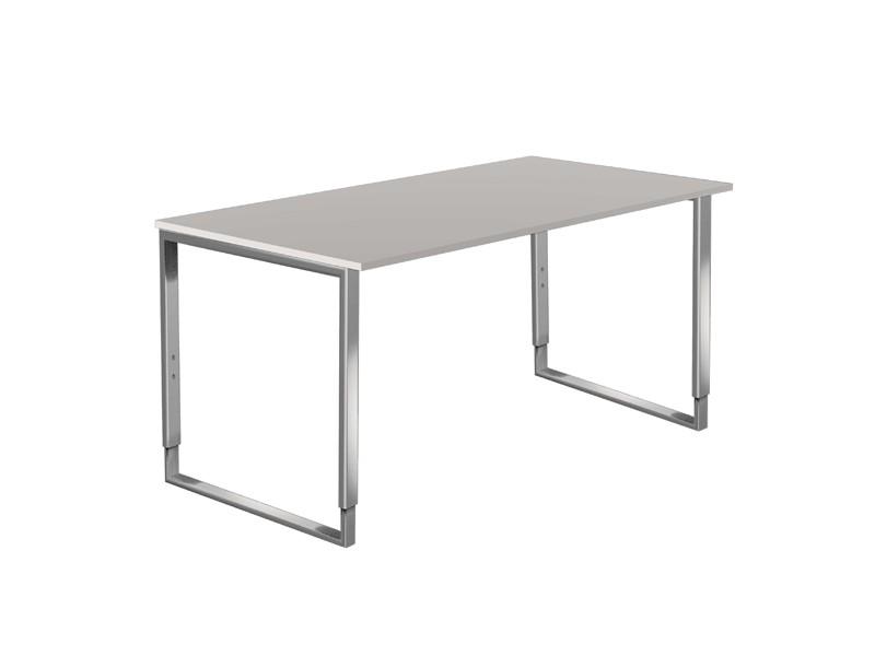 b ro schreibtisch edelstahl gestell kerkmann 4503 1. Black Bedroom Furniture Sets. Home Design Ideas