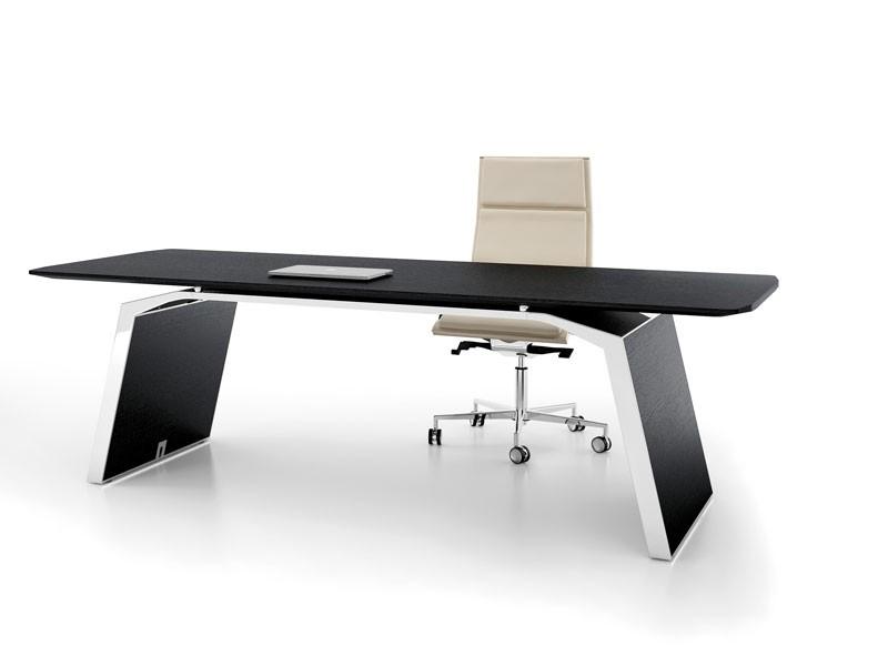 Luxus Schreibtisch Metar Echtholzfurnier | JourTym.de