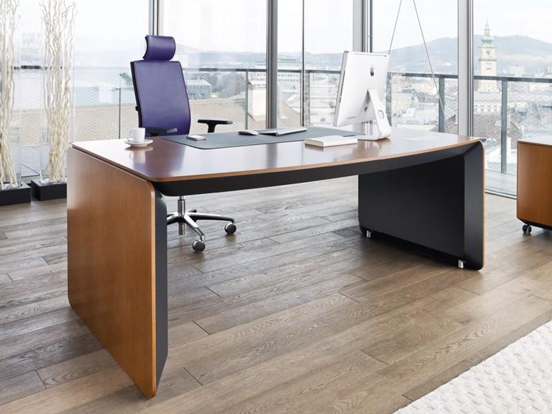 Chefschreibtisch erange von bn office solution for Schreibtisch abgerundet