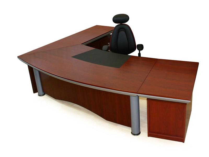 Schreibtisch l form eckschreibtisch holz g nstig kaufen for Schreibtisch in l form