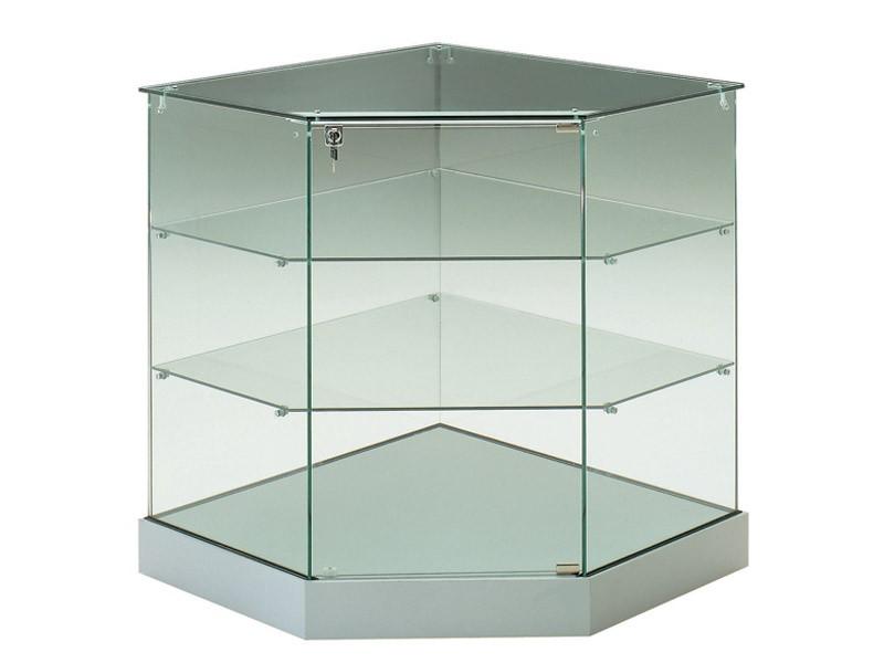 eckvitrine glas und mehr f r ihr laden bei kaufen. Black Bedroom Furniture Sets. Home Design Ideas