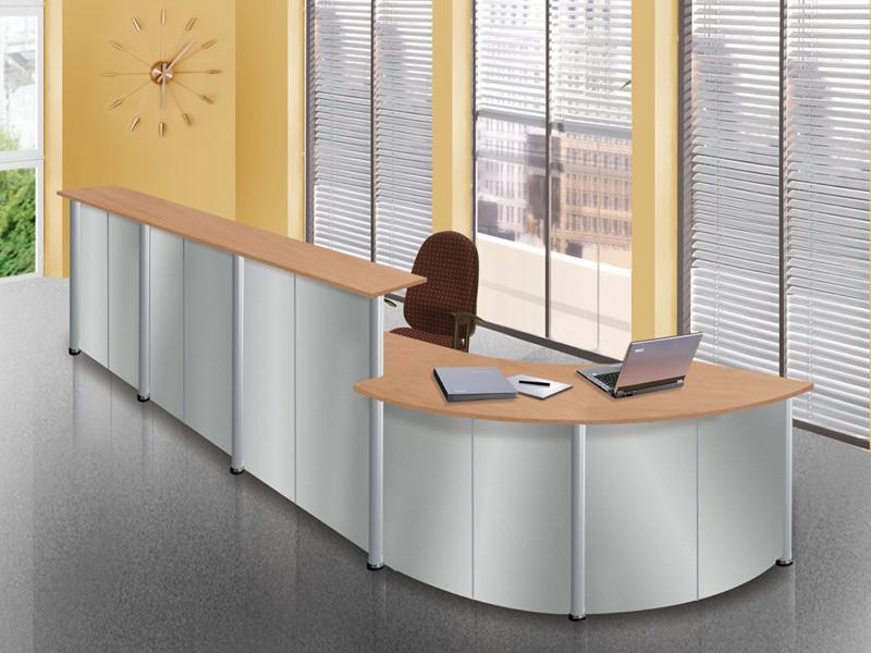 Edle Rezeption eMel Empfangsmöbel 5382x2715 mm Büromöbel