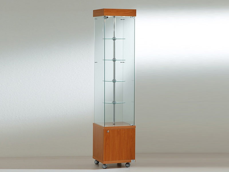 glas staufachvitrine jt4 18gm auf rollen 4 drehteller mit motor. Black Bedroom Furniture Sets. Home Design Ideas