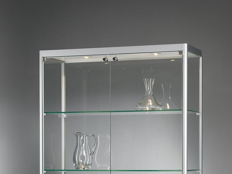 glasvitrine mit beleuchtung bei jourtym. Black Bedroom Furniture Sets. Home Design Ideas