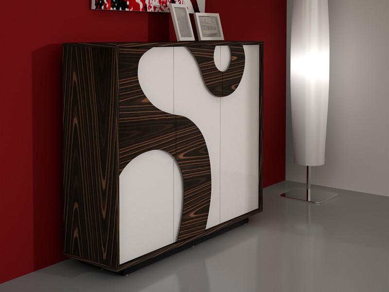 Design highboard elara ebenholz hochglanz wei - Moderne highboards ...