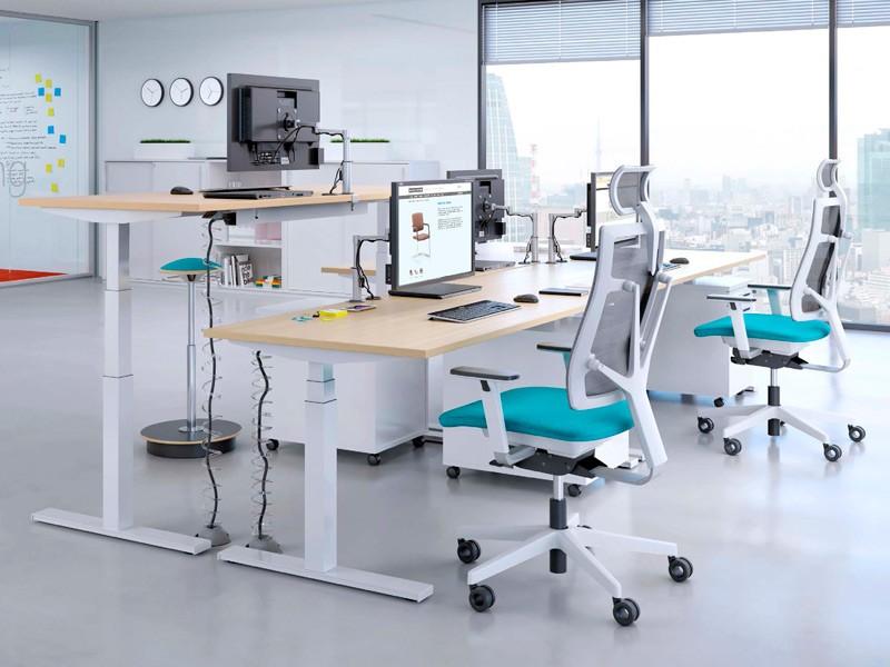 h henverstellbarer schreibtisch emodel rechteckig g nstig kaufen. Black Bedroom Furniture Sets. Home Design Ideas