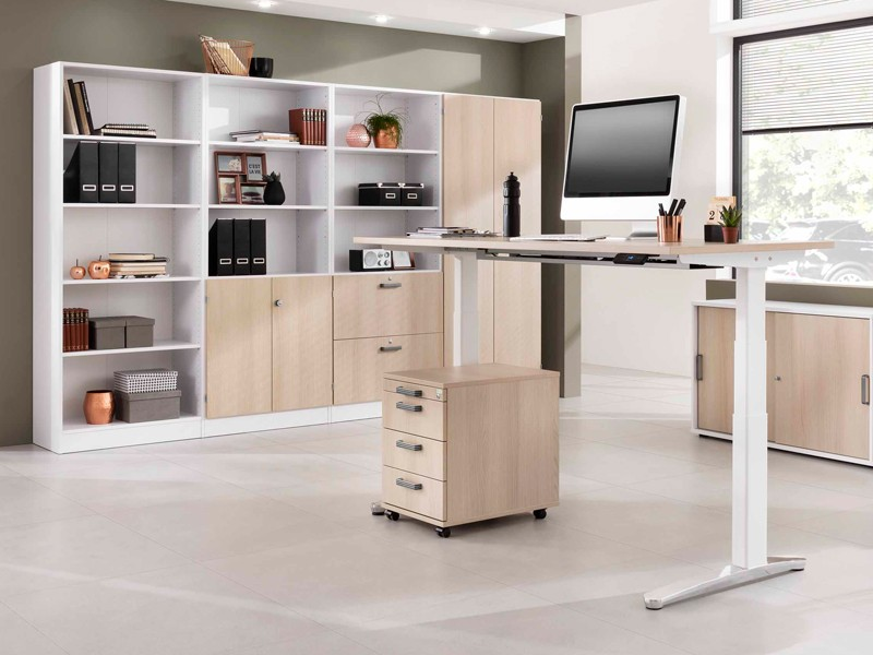 Höhenverstellbarer Schreibtisch VXBHM | JourTym Büromöbel
