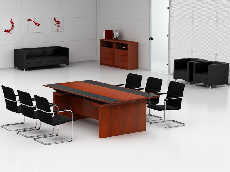 Konferenztisch Bergamo 2400 x 1200 mm + 6 x Konferenzstühle