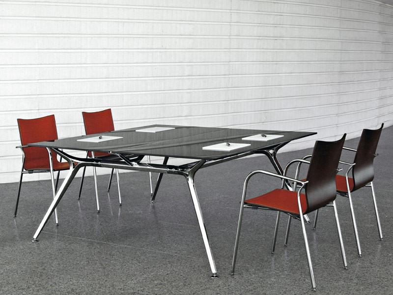 Konferenztisch design glas und mehr bei kaufen for Konferenztisch design