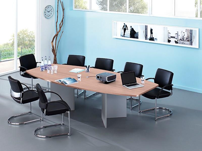 konferenztisch hammerbacher vkt28h holzuntergestell. Black Bedroom Furniture Sets. Home Design Ideas