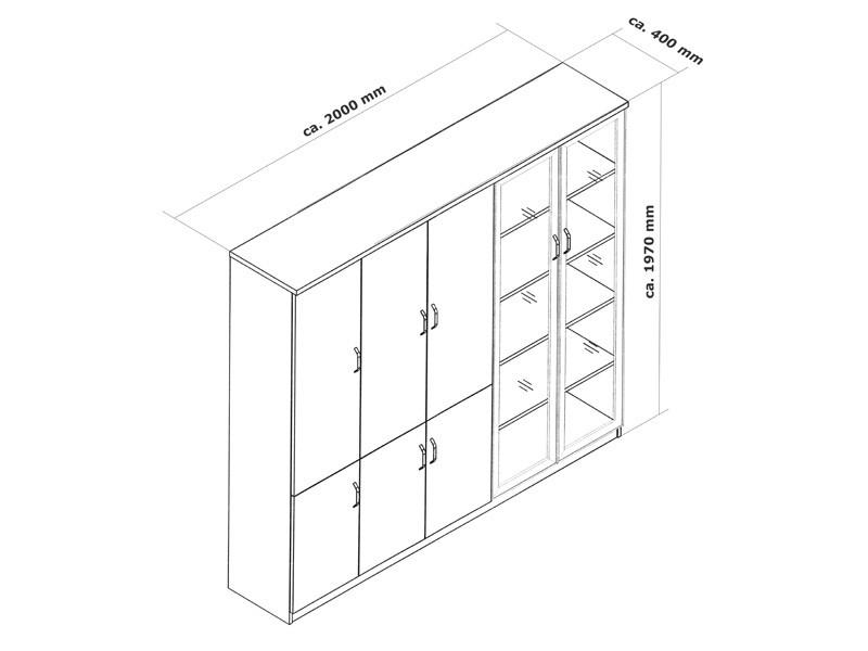Bürotisch kaufen   Büromöbel Aktenschrank günstig online