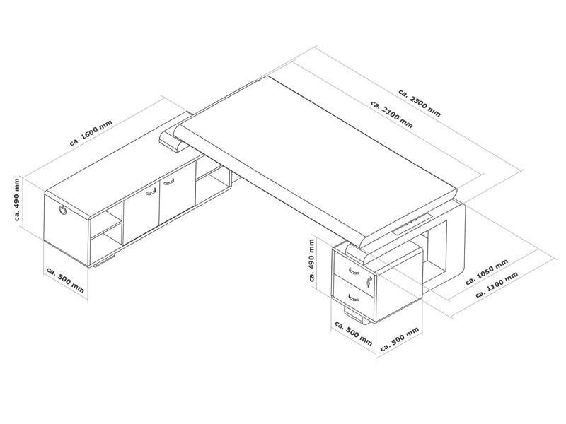 Eiche Schreibtisch Büromöbel Office Varese online kaufen