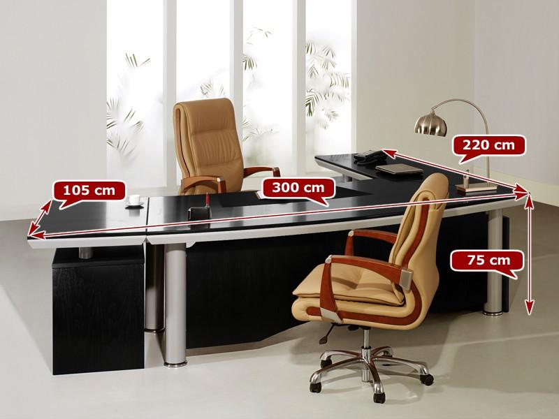 Eckschreibtisch design  Eckschreibtisch schwarz | Schreibtisch lang online kaufen