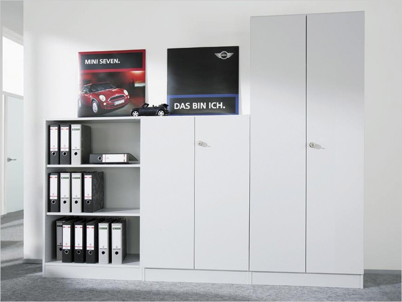 aktenschrank v6550 3oh hammerbacher solid 6 abschlie bar. Black Bedroom Furniture Sets. Home Design Ideas