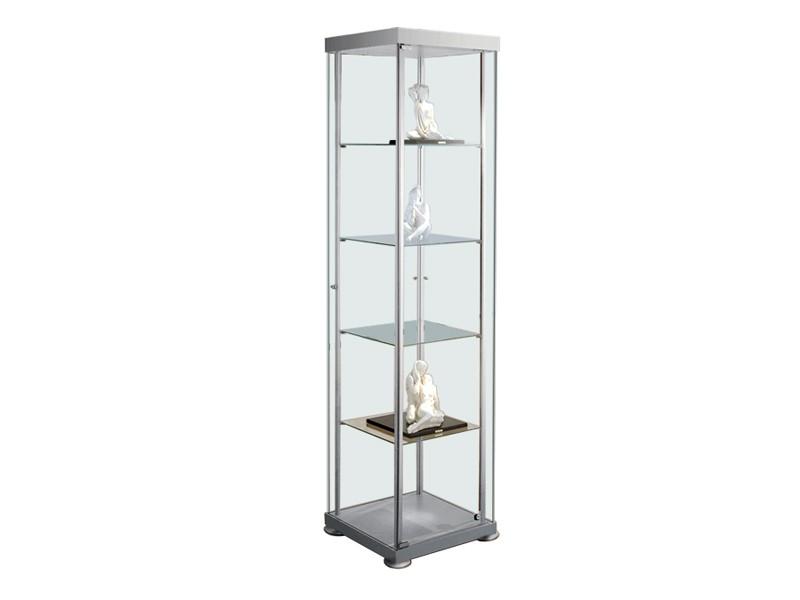 vitrine expoline quadratvitrine abschlie bar glasvitrine. Black Bedroom Furniture Sets. Home Design Ideas