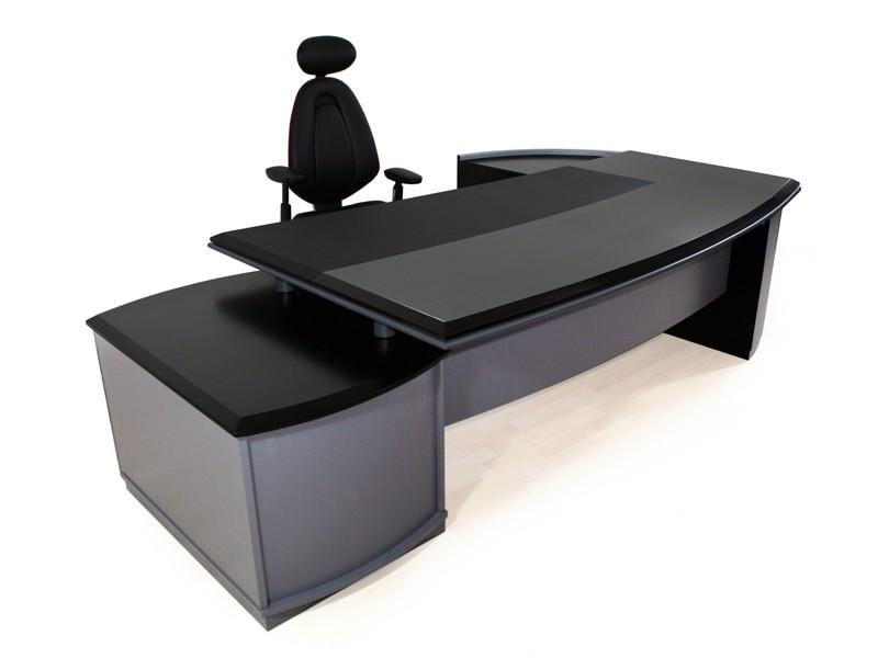 Eckschreibtisch schwarz  Chefschreibtisch bei JourTym Büromöbel kaufen