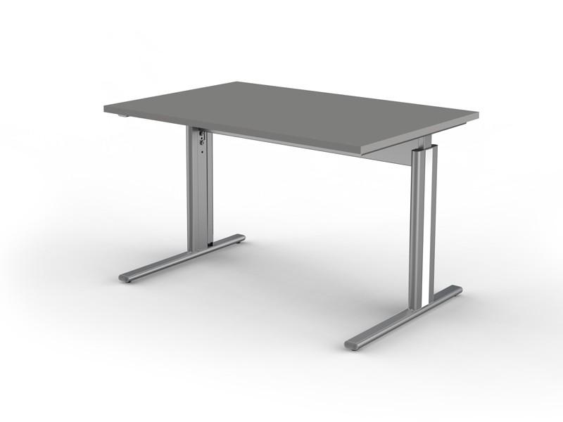 Schreibtisch c fu gestell form 4 tischplatte 120 x 80 cm for Schreibtisch gestell