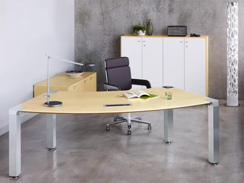 schreibtisch k nig neurath conline m cntk1610 kreisbogenform. Black Bedroom Furniture Sets. Home Design Ideas