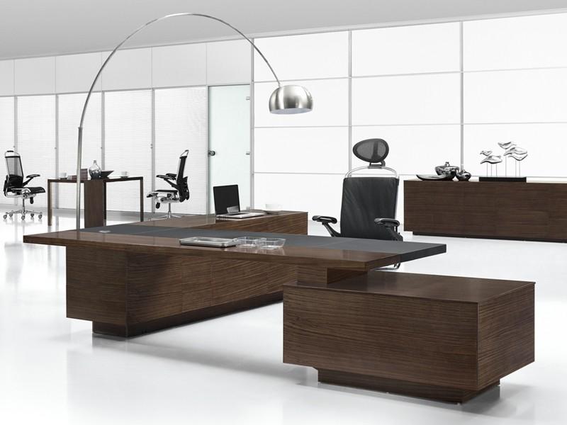 Schreibtisch design holz  Design Chef-Schreibtisch Ancona Zebrano